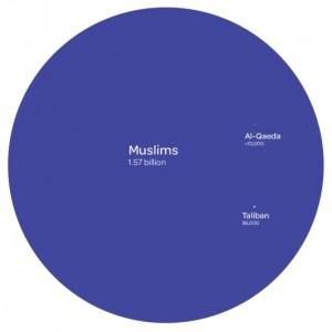 Islam and terrorists (infographic)